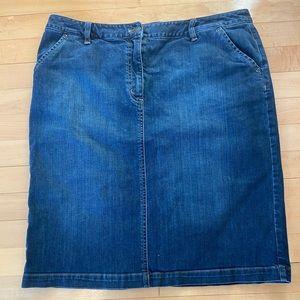 Talbots Jean Skirt